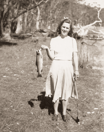 Pat with trout